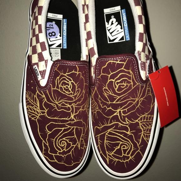 Vans Shoes | Custom Hand Painted Rose